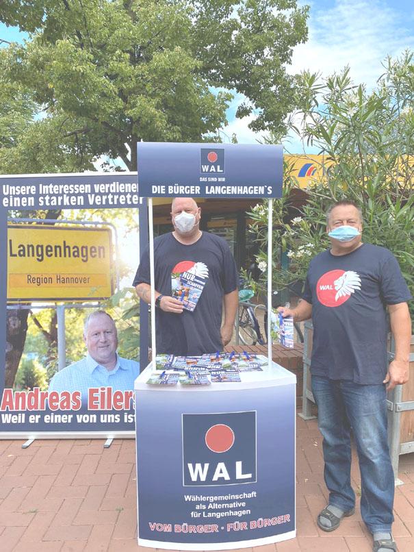 Wählergemeinschaft WAL auf dem Wochenmarkt – eine kleine Anekdote
